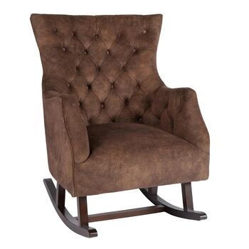 Abigail Brown Tufted Upholstery Rocking Chair