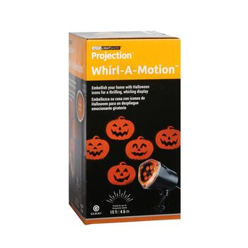 LED Lightshow® Projection™ Pumpkin Whirl-A-Motion™ Stake