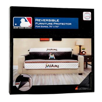 MLB Florida Marlins Reversible Sofa Cover