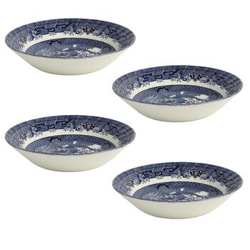 Blue Willow Imperial Soup Bowls, Set of 4