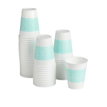 48-Count Mint Geo Plastic Cups