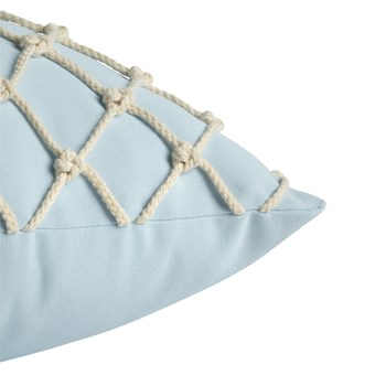 "Coastal Living Seascapes™ 18"" Powder Blue Rope Indoor/Outdoor Throw Pillow view 2 view 3"