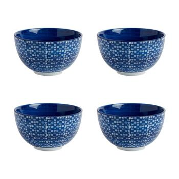 Geometric Weave Medium Tidbit Bowls, Set of 4