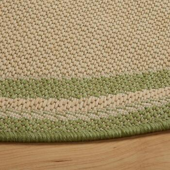 Green Border All-Weather Area Rug view 2 view 3 view 4