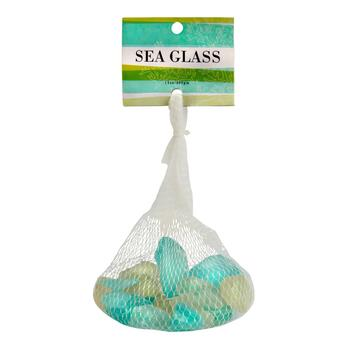 Teal/White Seaglass Mix in Mesh Bag
