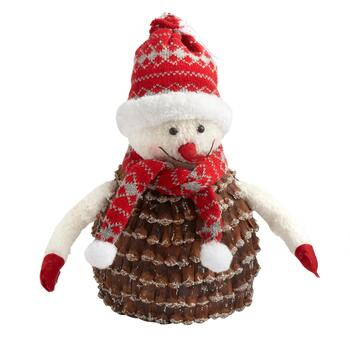 Plush Pinecone Snowman