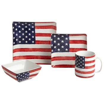 USA Old Glory Ceramic Dinnerware Collection