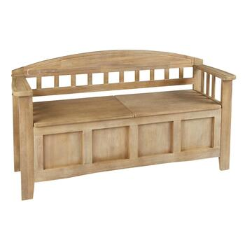 Mission Square Paneled Storage Bench
