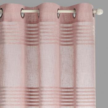 "84"" Striped Chenille Grommet Window Curtains, Set of 2"