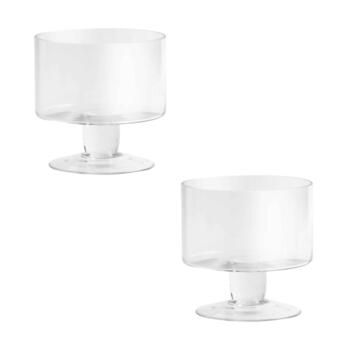 Mini Glass Trifle Serving Bowls, Set of 2