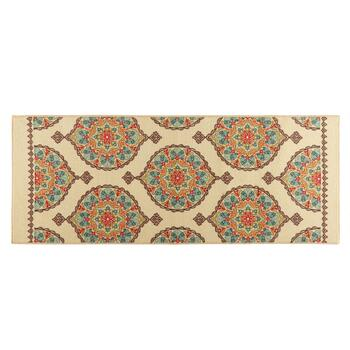 Mohawk Home 2' x 5' Orange/Teal Medallion Runner Rug
