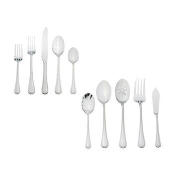 Pfaltzgraff® Basics Edgebrook Flatware Set, 53-Piece