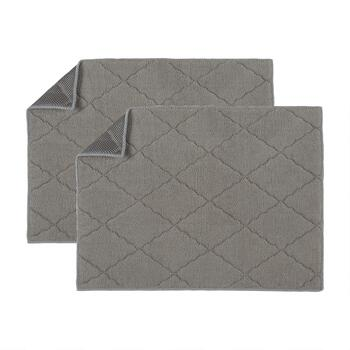 "15""x20"" Solid Quilted/Mesh Reversible Drying Mats, Set of 2"