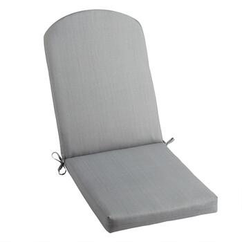 Solid Gray Indoor/Outdoor Adirondack Chair Pad