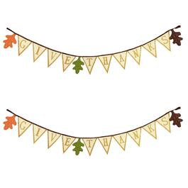 """Give Thanks"" Decorative Leaf Banner"