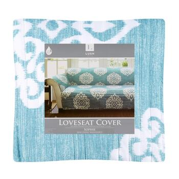 Sophie Blue Medallion Loveseat Furniture Cover