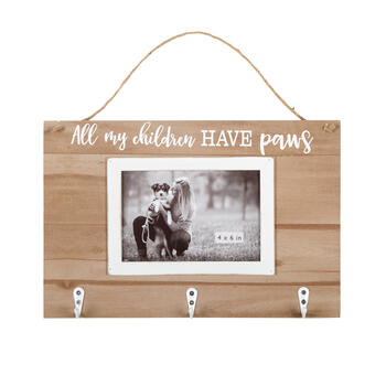 "8""x12"" ""My Children Have Paws"" Hanging Pet Photo Frame with Hooks view 1"