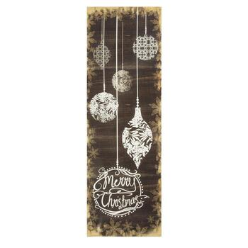 """Merry Christmas"" Ornaments Canvas Wall Decor"