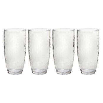 Hammered Tumbler Acrylic Glasses, Set of view 1