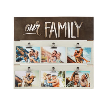 "The Grainhouse™ 18.5""x20.5"" ""Our Family"" Photo Clip Wall Decor view 1"