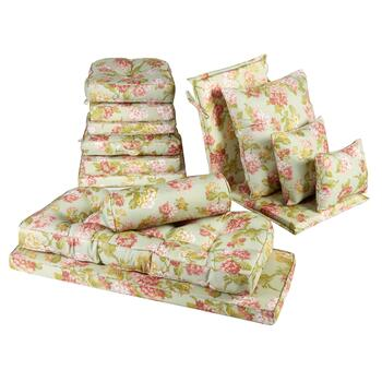 Waverly® Pink Blooms All-Weather Seat Cushions Collection