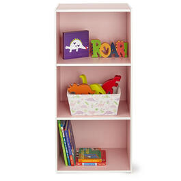 Girls Pink 3-Tier Bookcase view 1