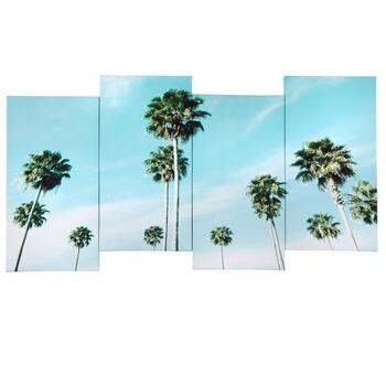 "18""x38"" Coastal Palm Trees Canvas Wall Art"