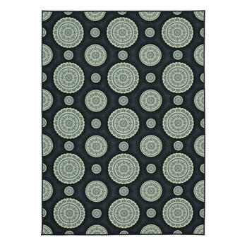 "7'5""x10' Mohawk Home Blue Circle Medallions Area Rug view 1"