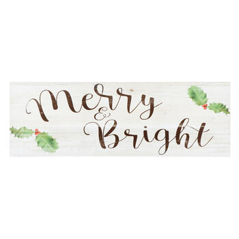 "12""x36"" ""Merry and Bright"" Canvas Wall Decor view 1"