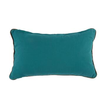 Naya Aqua/Green Jacobean Floral Oblong Throw Pillow view 2