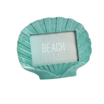 "4""x6"" Coastal Shell-Shaped Picture Frame"