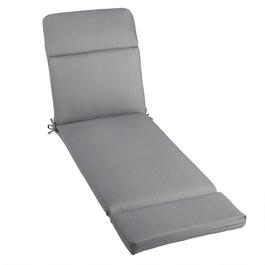Solid Gray Indoor/Outdoor Hinged Chaise Chair Pad