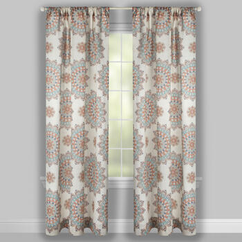 Marley Mandala Flowers Window Curtains, Set of 2 view 2