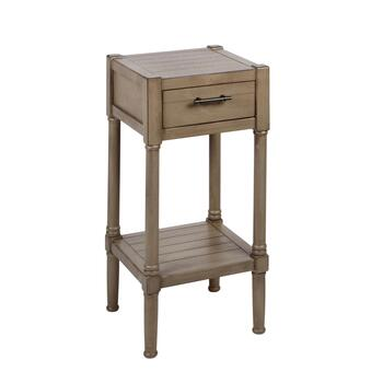 "28.25"" 1-Drawer Plank Top Accent Table"