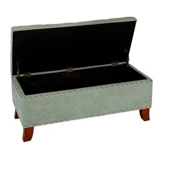 Kent Tufted Storage Ottoman with Nailheads view 2