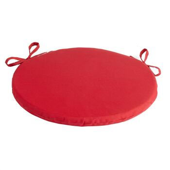 Solid Red Indoor/Outdoor Round Bistro Seat Pad