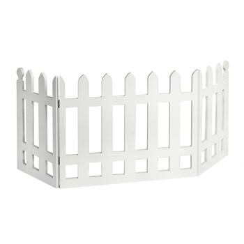 White Picket Fence Folding Pet Gate
