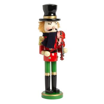 "15"" Violin Playing Holiday Nutcracker"