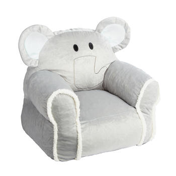 Elephant Children's Plush Bean Bag Chair view 1