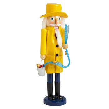 "15"" Yellow Fisherman Nutcracker"