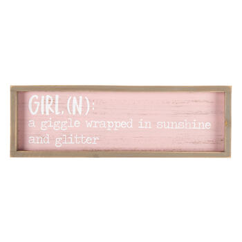 "15"" ""Girl"" Definition Framed Wall Decor view 1"