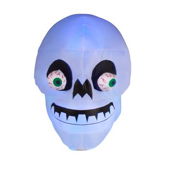 4.8' Airblown® Inflatable Spinning Eyes LED Skull