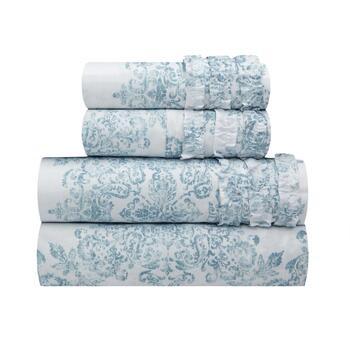 The Grainhouse™ Paisley Ruffle Microfiber Sheets