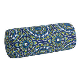 Blue/Green/White Medallion Indoor/Outdoor Lumbar Pillow view 1