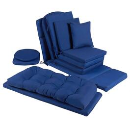 Solid Cobalt Indoor/Outdoor Chair Pads Collection