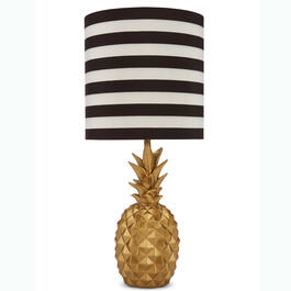 "18"" Pineapple Black & White Table Lamp view 1"