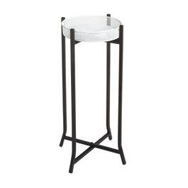 Black/White Pedestal Plant Stand view 1