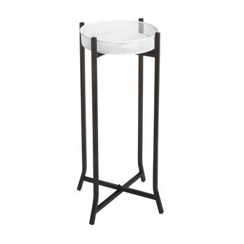 Black White Pedestal Plant Stand Christmas Tree Shops And That Home Decor Furniture Gifts Store