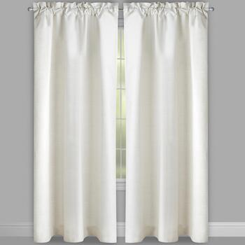 Solstice™ Solid Ivory Foam Back Window Curtains, Set of 2 view 2