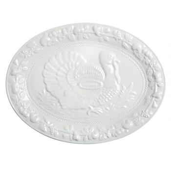 Turkey Embossed Melamine Serving Platter